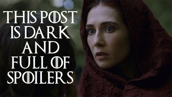 the night is dark and full of spoilers melisandre